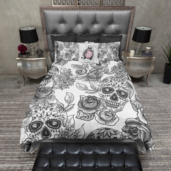 The Original White Sugar Skull Bedding