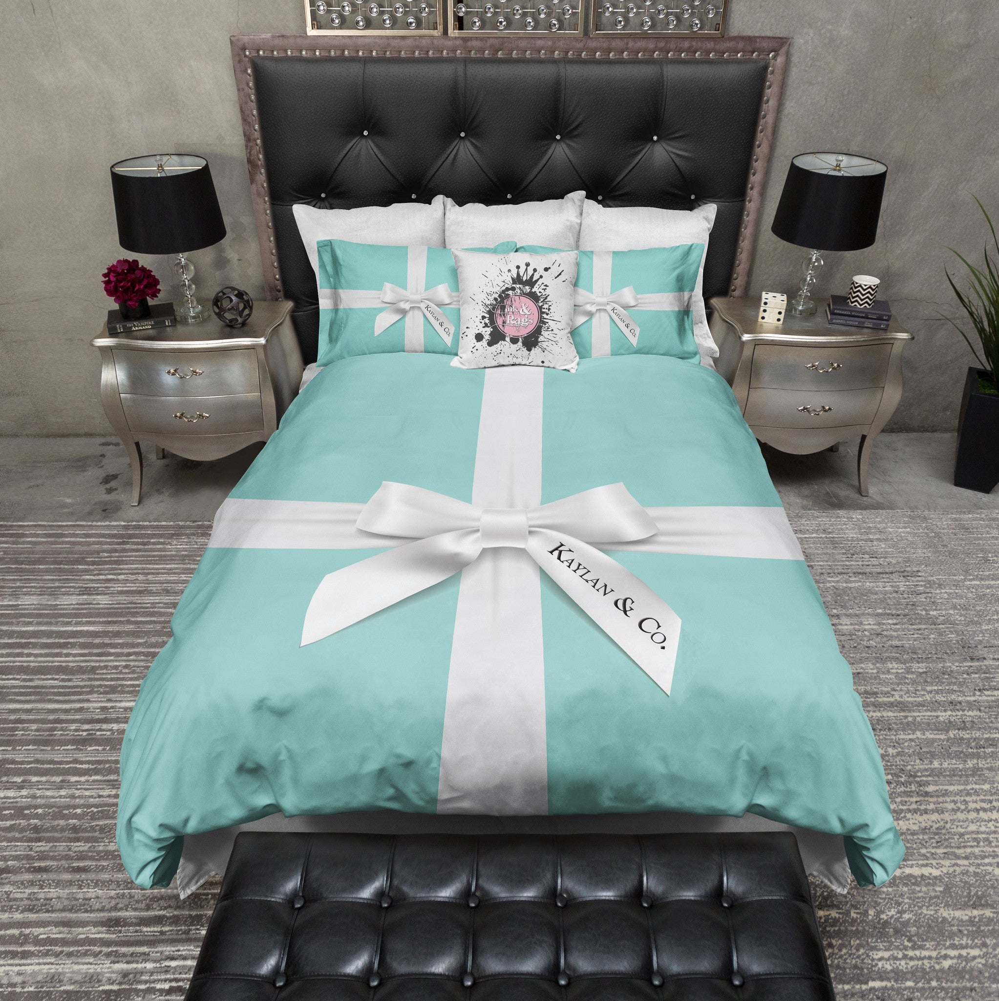Name Amp Co Personalized Duvet Bedding Sets Ink And Rags