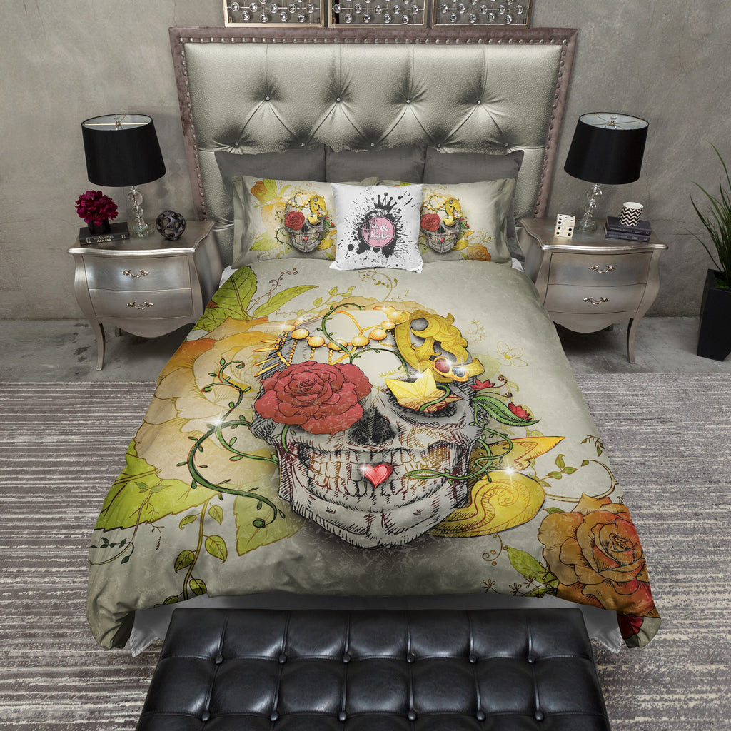 Vintage Style Treasure Skull Bedding Collection