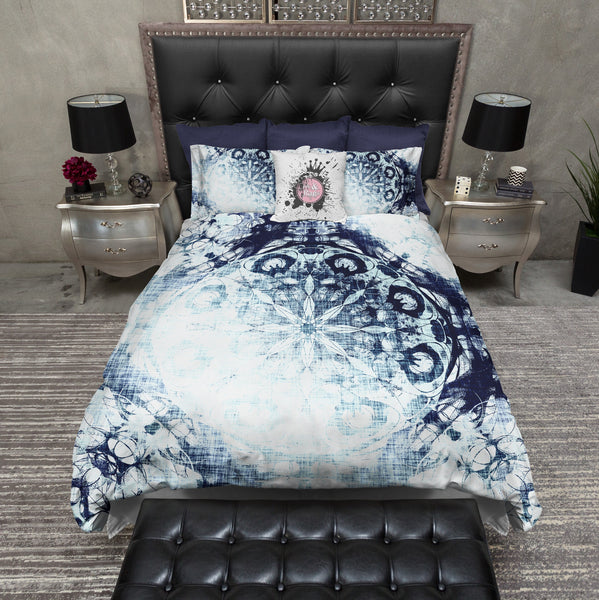 Boho Blue Ombre Mandala Bedding Ink And Rags