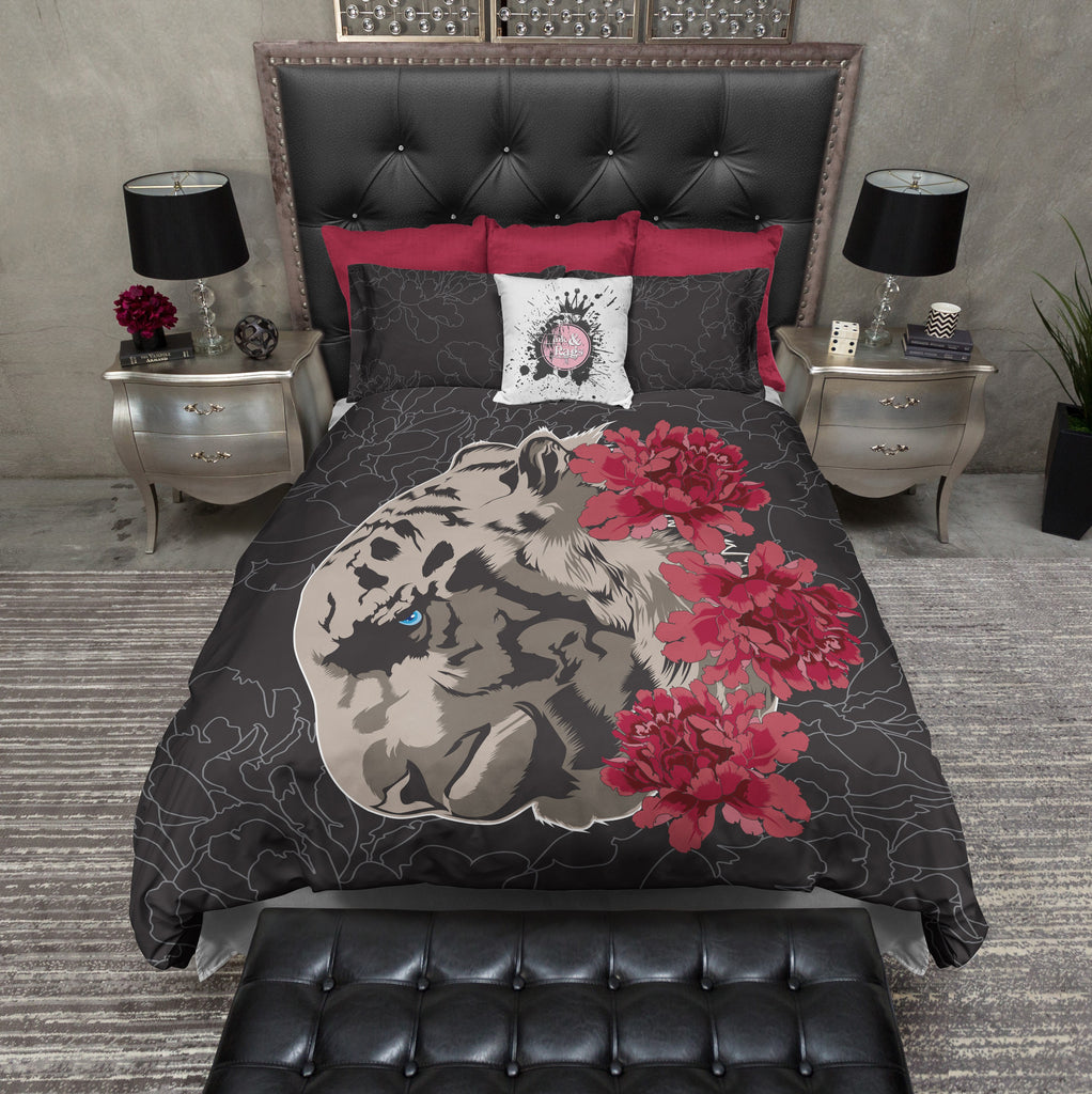 Leopard Rose Bedding Collection