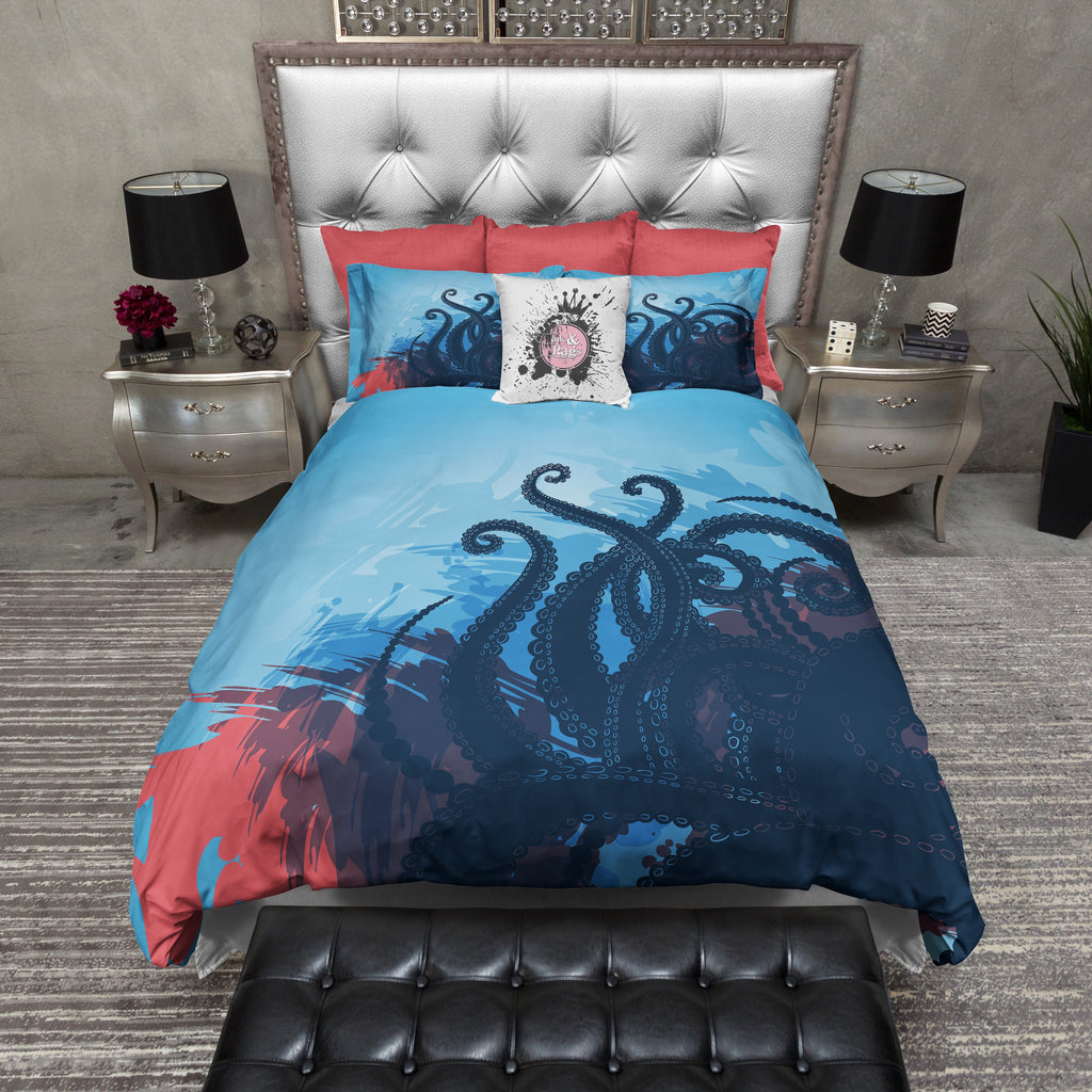 Deep Blue Sea Octopus Tentacle Bedding Collection