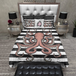 Full Octopus Stripe Bedding