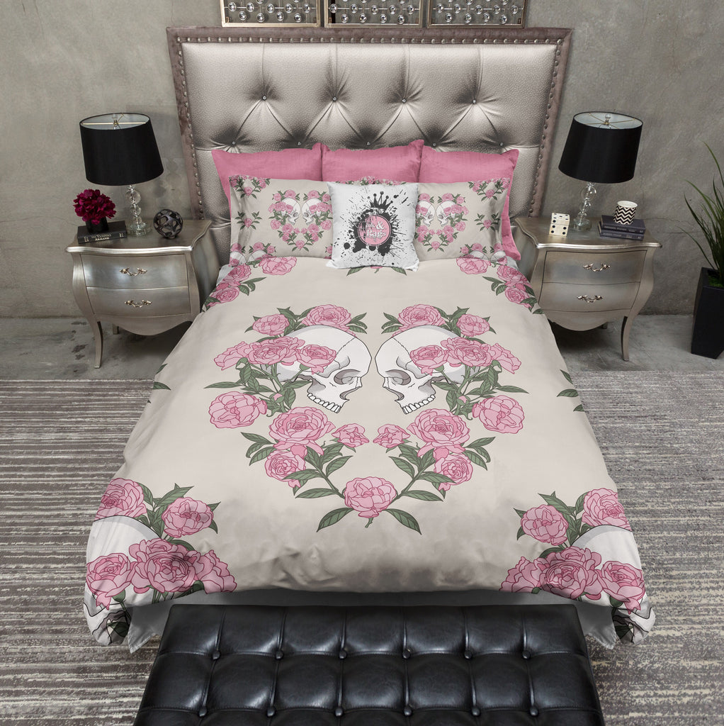 Rose Heart Skull Bedding