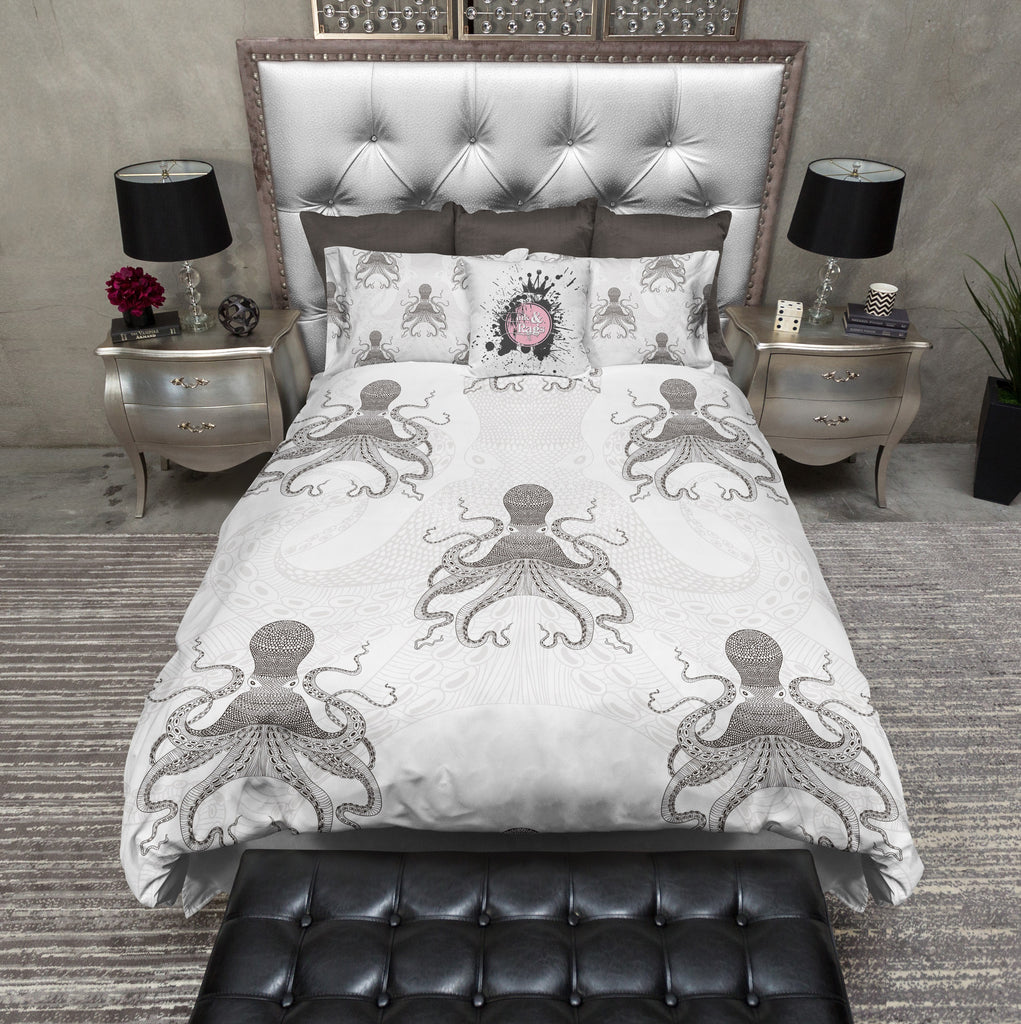 Fade Out Octopus Duvet Bedding Sets