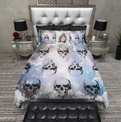Heavenly Galaxy Skull Duvet Bedding Sets