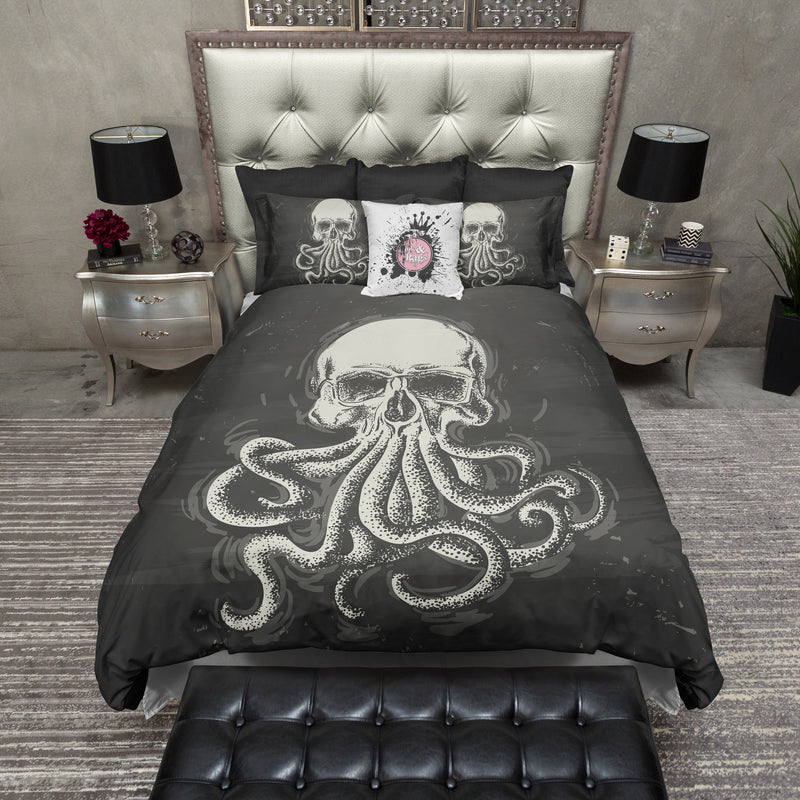 Octo Skull Bedding CREAM