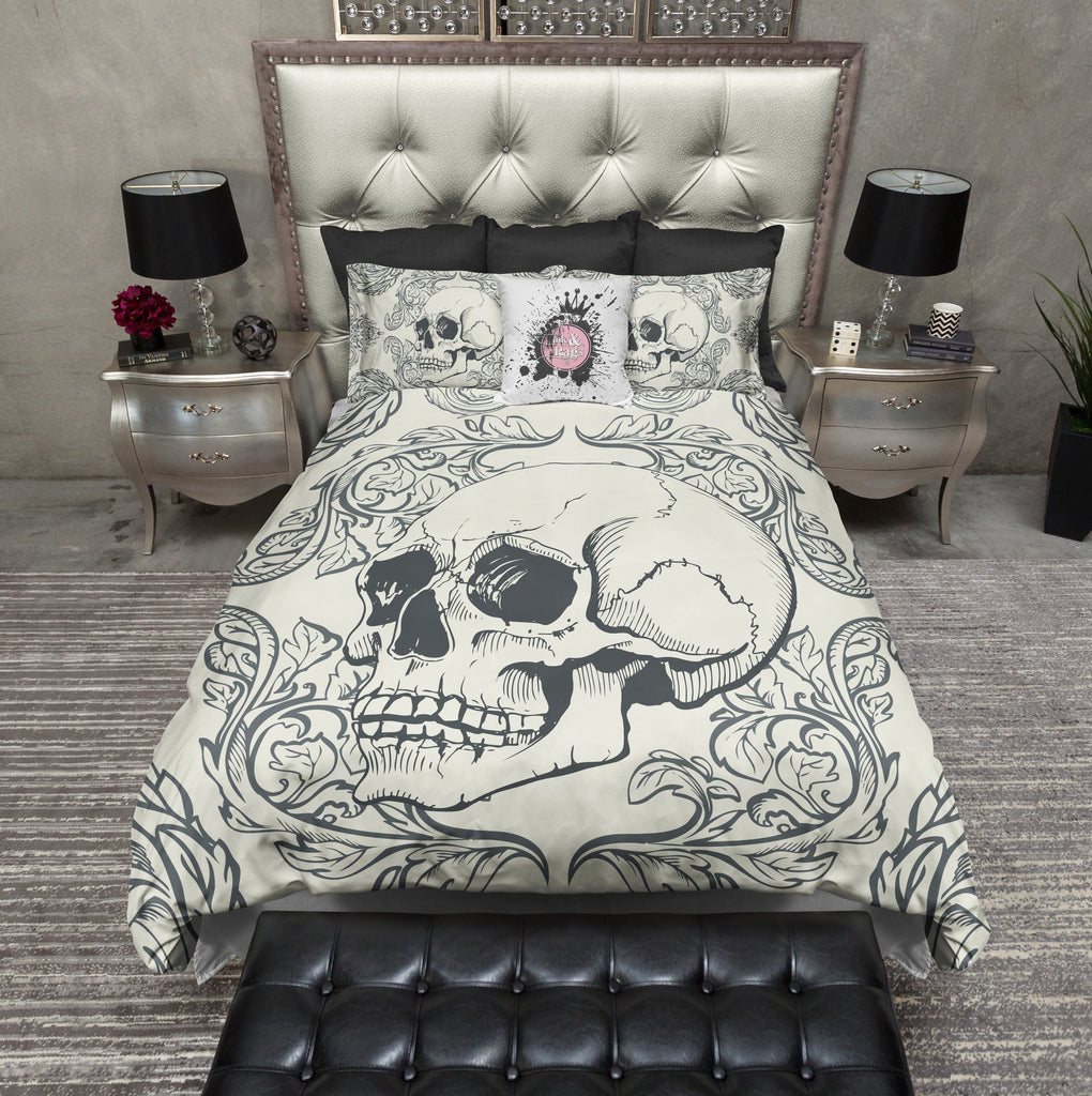 Swag Skull Bedding CREAM