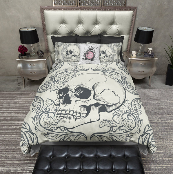 Swag Skull Bedding Cream Ink And Rags