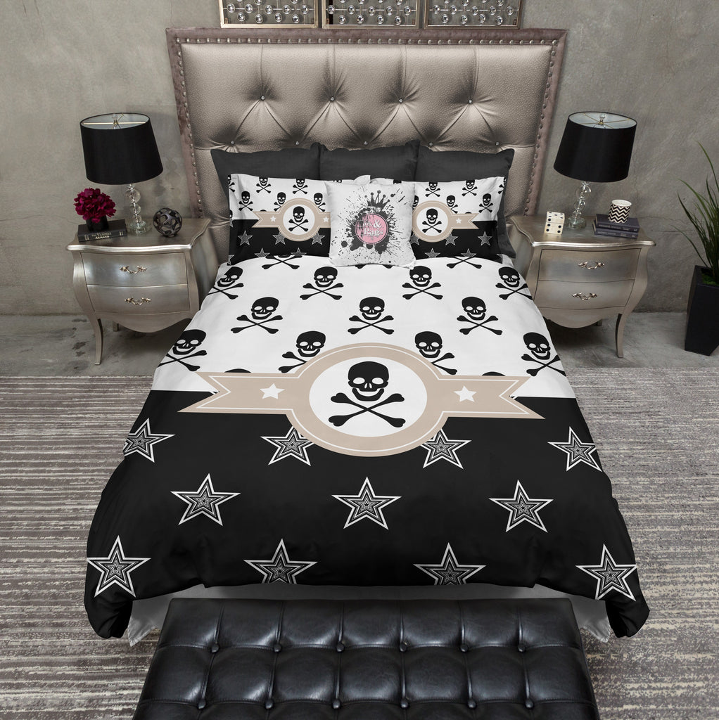 Retro Texas Star and Skull and Crossbone Bedding Collection