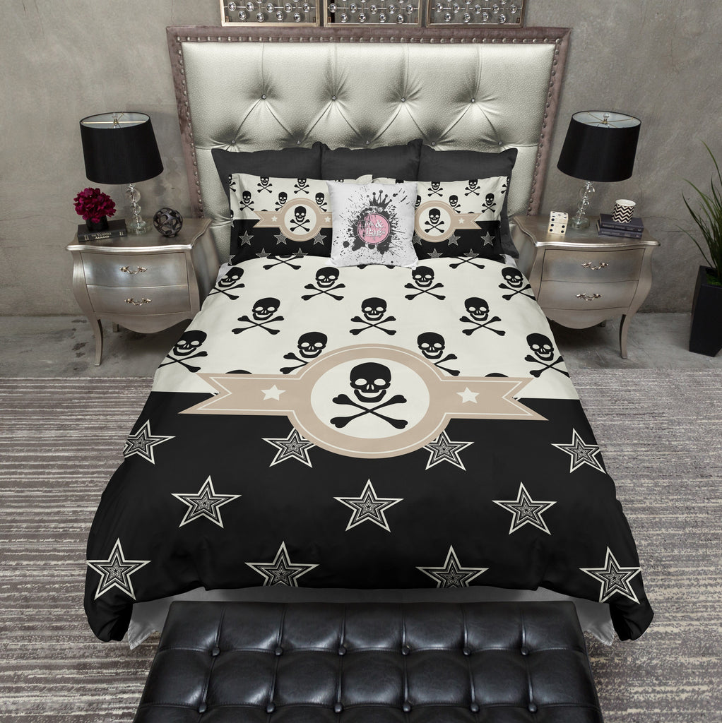 Texas Star and Skull Duvet Bedding Sets
