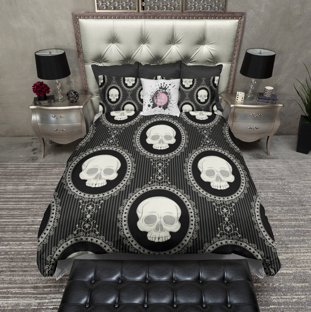Cameo Skull Bedding CREAM