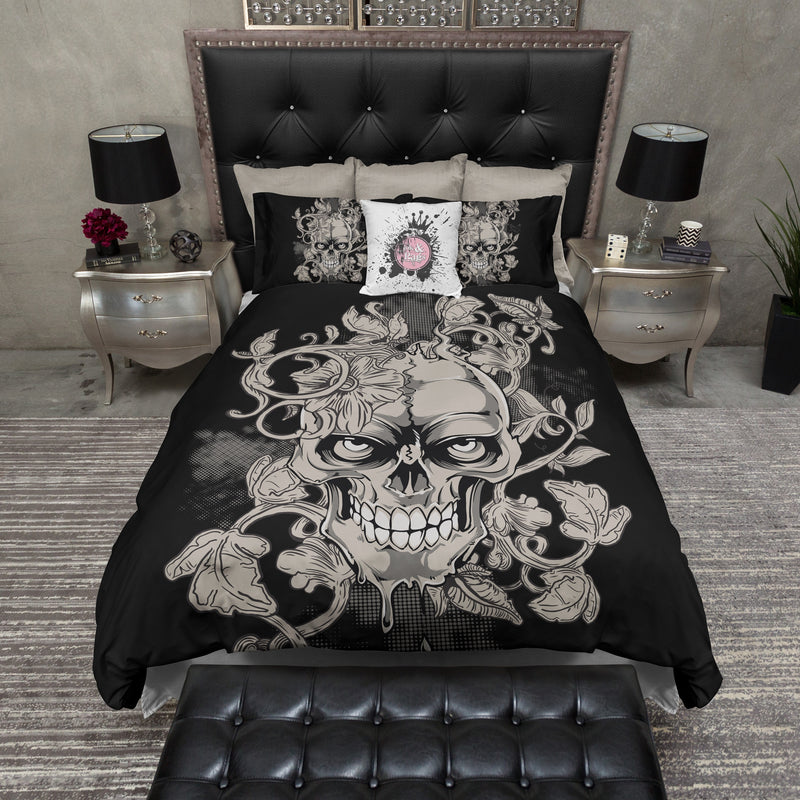 Killer Tan Skull & Vine Bedding