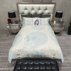 Perfectly Faded Patchwork Sugar Skull Bedding CREAM