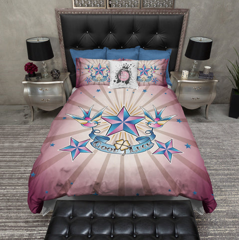 Rockabilly Good Luck Star Duvet Bedding Sets. Rockabilly   Tattoo Style Bedding and Accessories   Ink and Rags