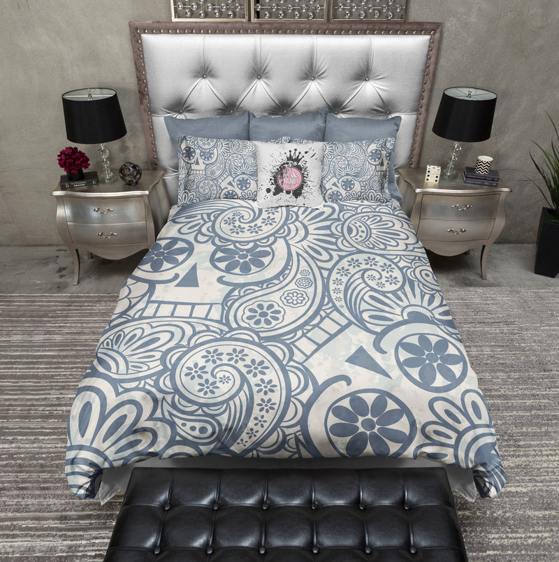 Psychedelic Ghost Print Sugar Skull Bedding