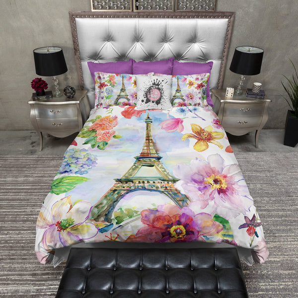 Paris In Spring Eiffel Tower Duvet Bedding Sets Ink And Rags