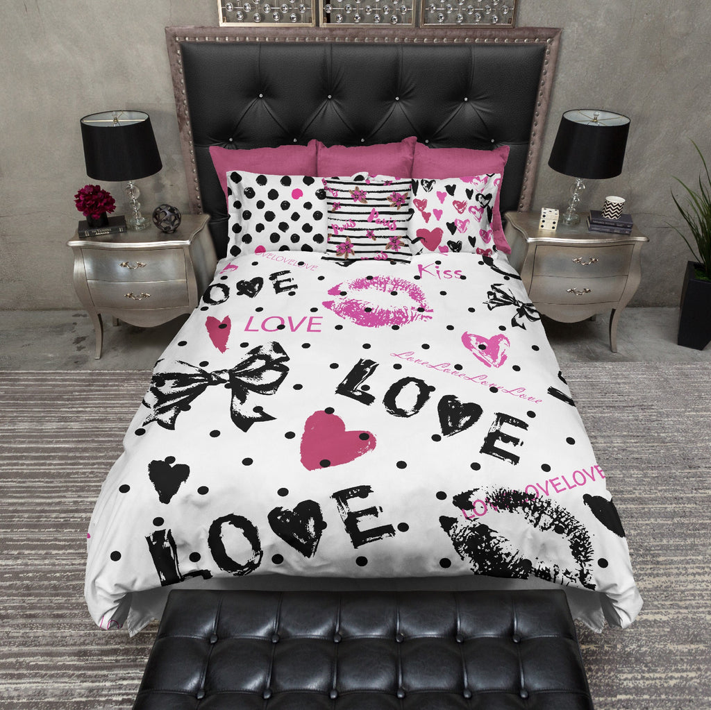 Pink Paris Love Bedding Collection