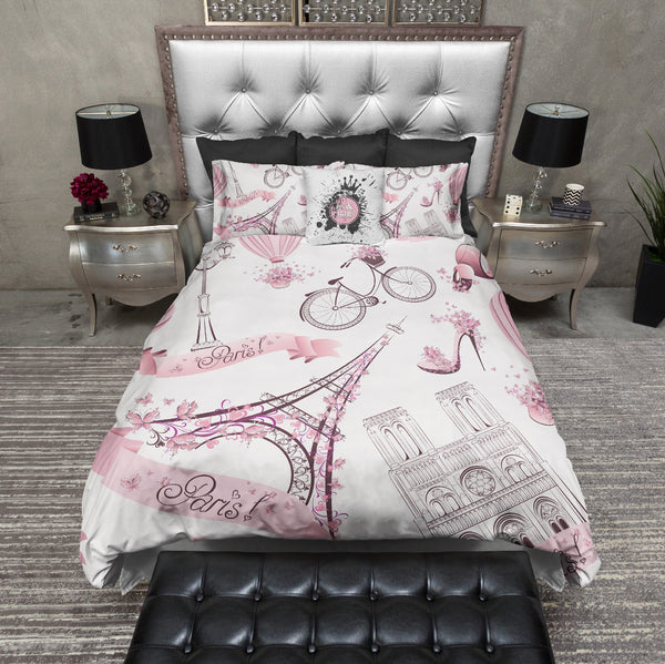 Whimsy In Paris Eiffel Tower Bedding Ink And Rags