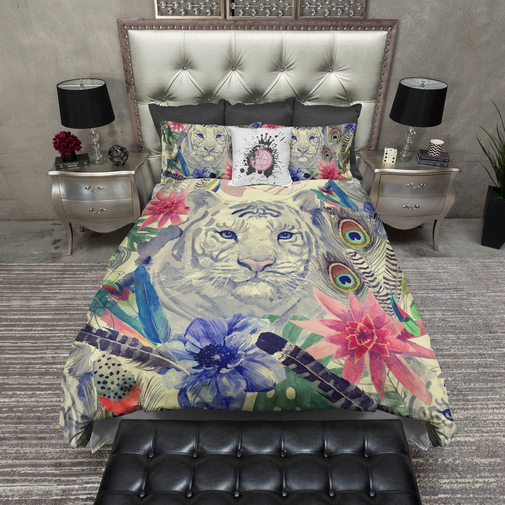 Indian Tiger Bedding CREAM