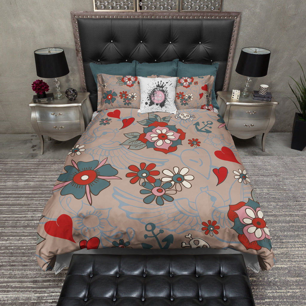 Tattoo Style Bedding Collection