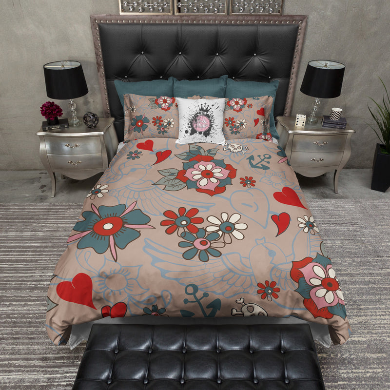 Tattoo Style Bedding