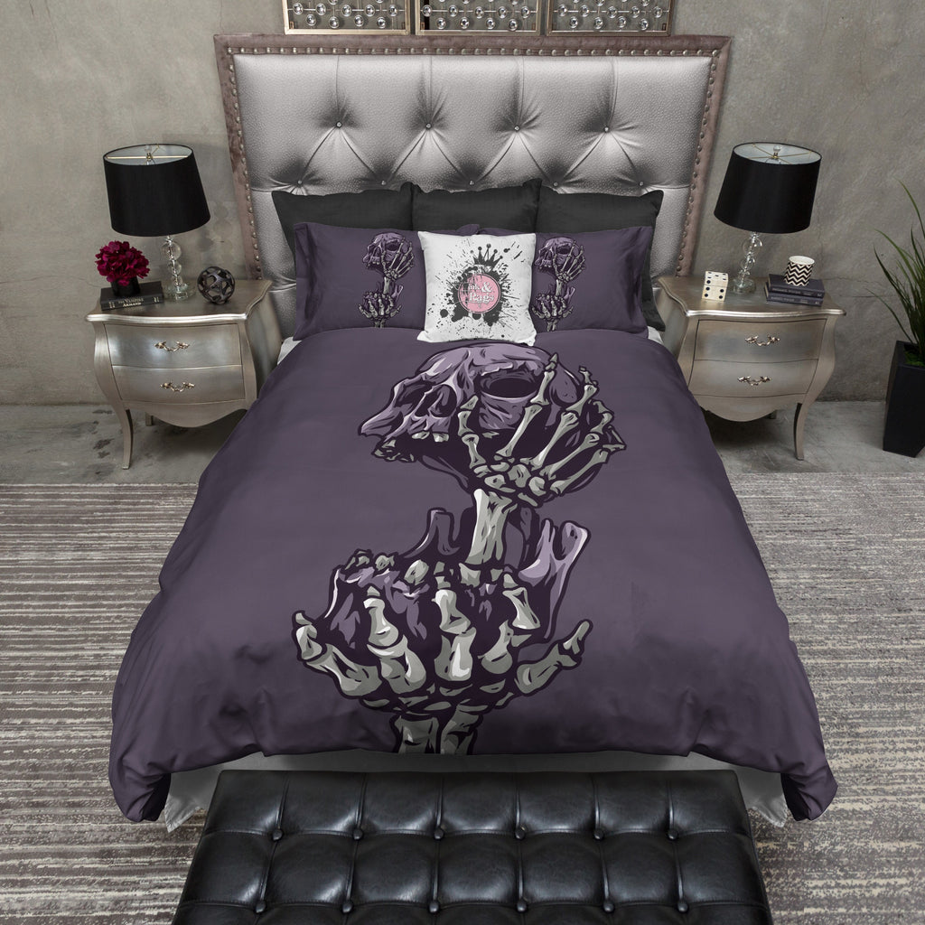 Head In Hand Skull Duvet Bedding Sets Ink And Rags