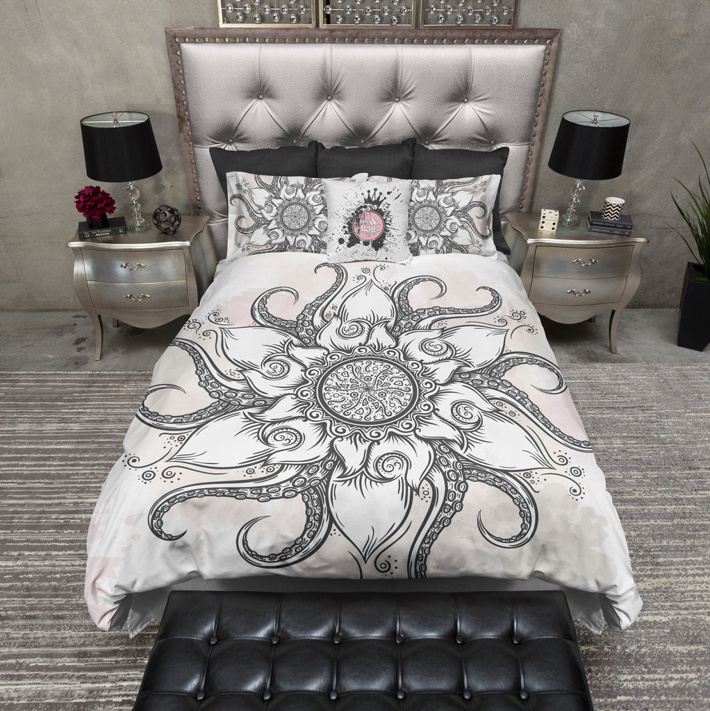 Octopus Flower Mandala Bedding Collection