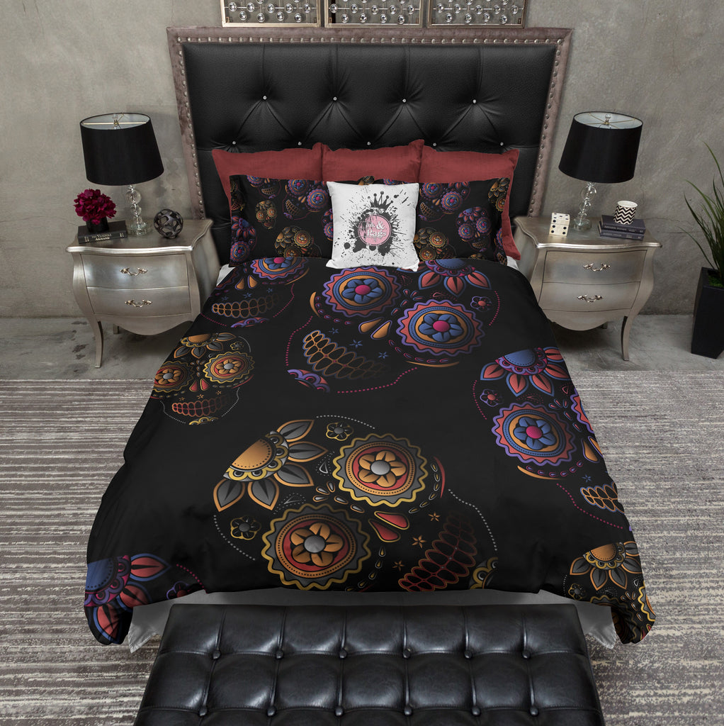 3D Sugar Skull Duvet Bedding Sets