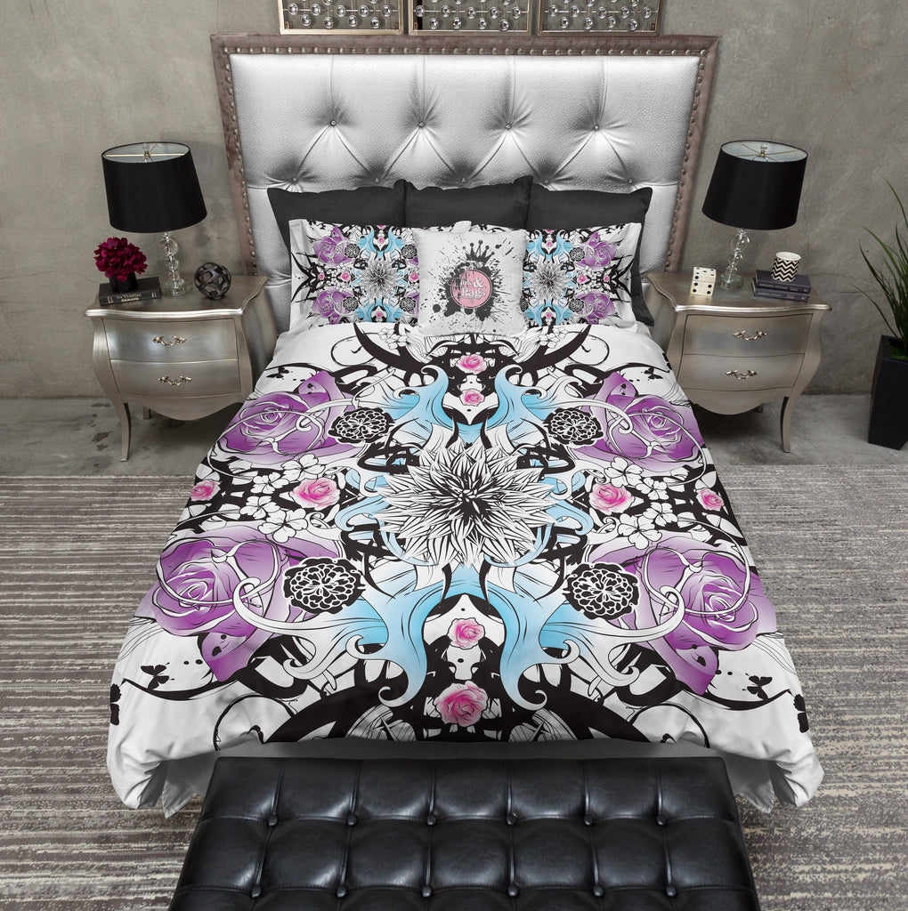 Botanical Floral Tattoo Duvet Bedding Sets