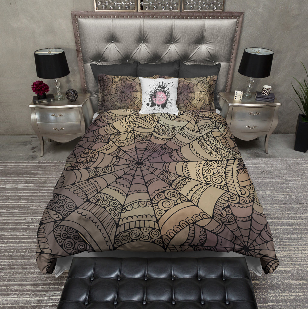 Mandala Inspired Spider Web Bedding Collection