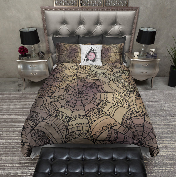 Mandala Inspired Spider Web Bedding