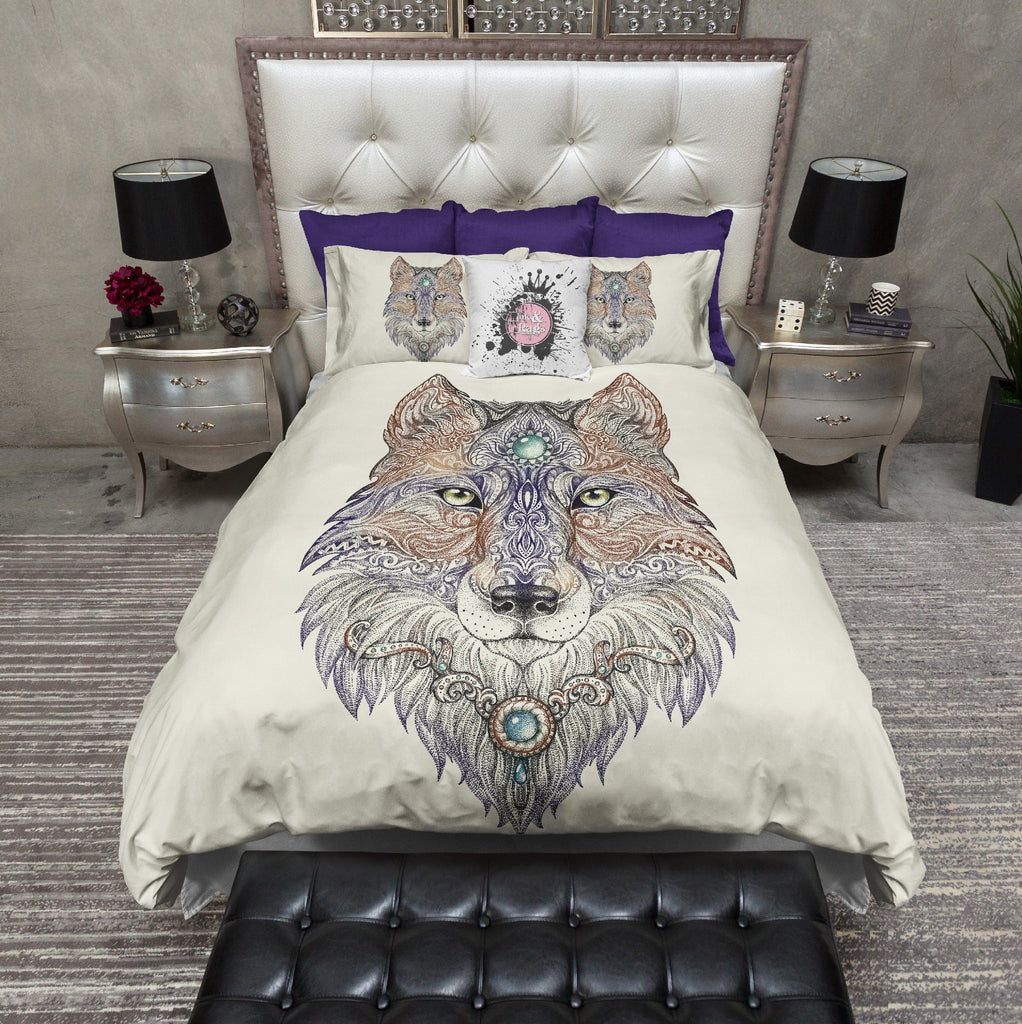 Mother Wolf Bedding CREAM