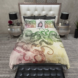 Fall Color Octopus Bedding CREAM