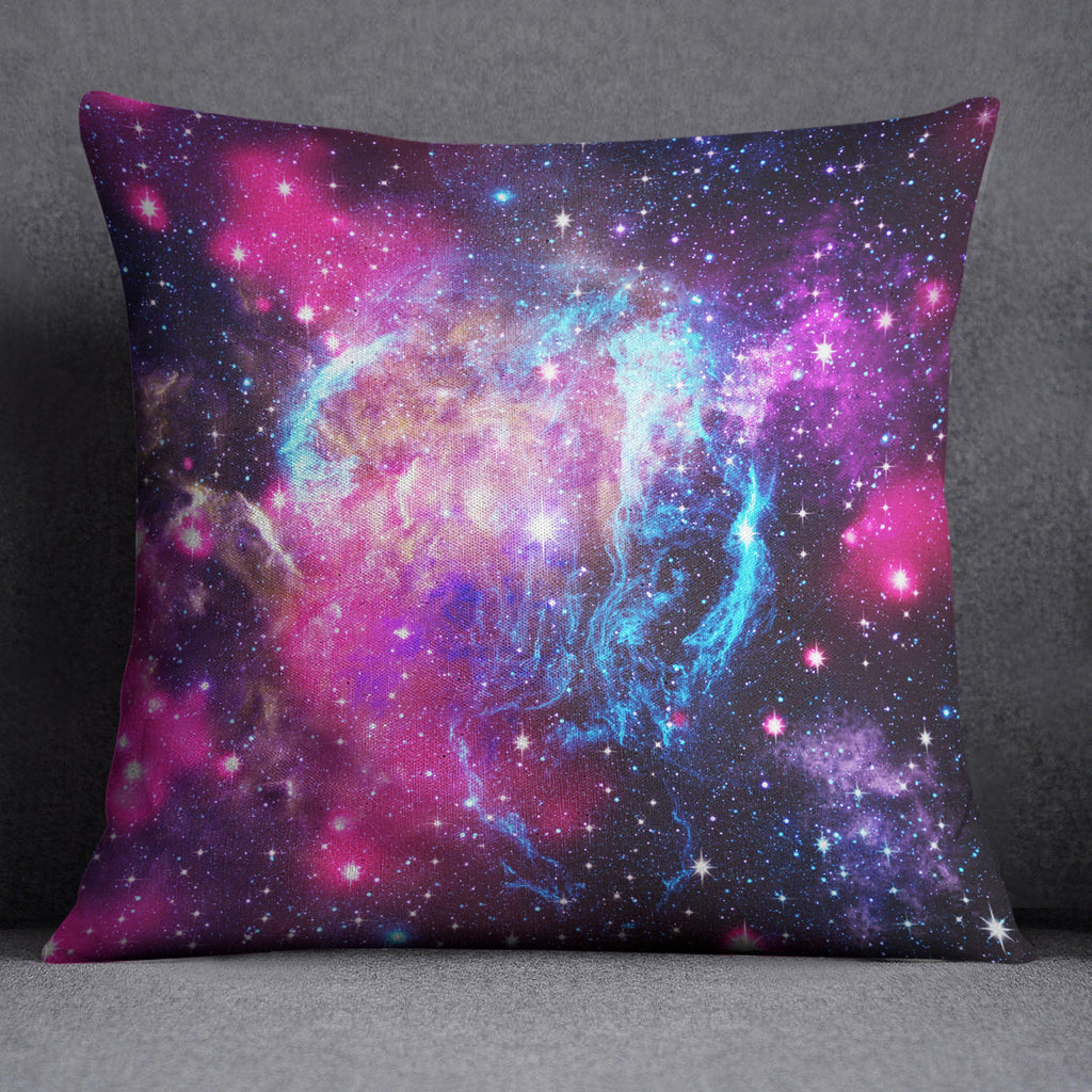 Pink Galaxy Decorative Throw and Pillow Cover Set