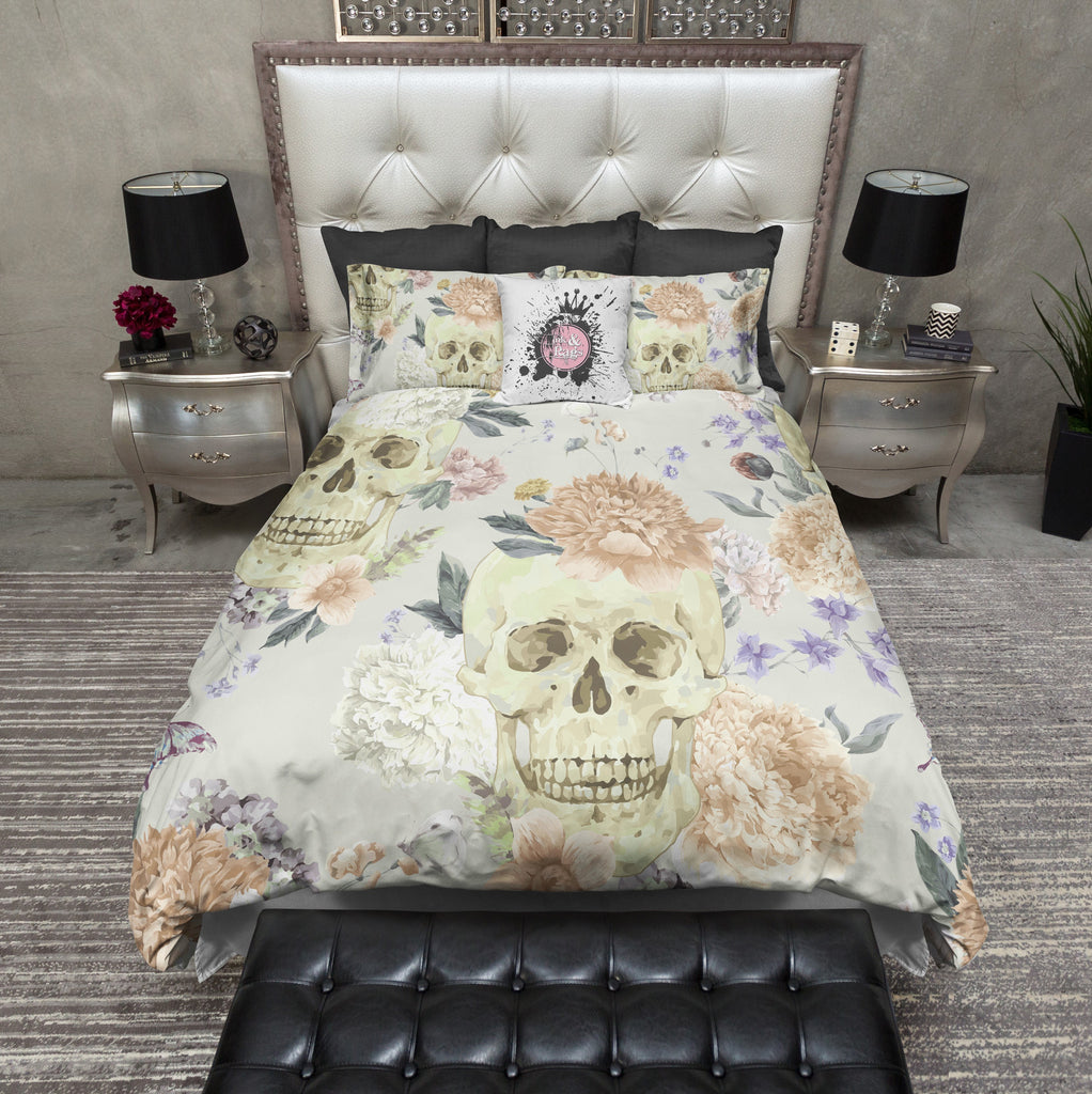 Country Wild Flower and Skull Bedding Collection