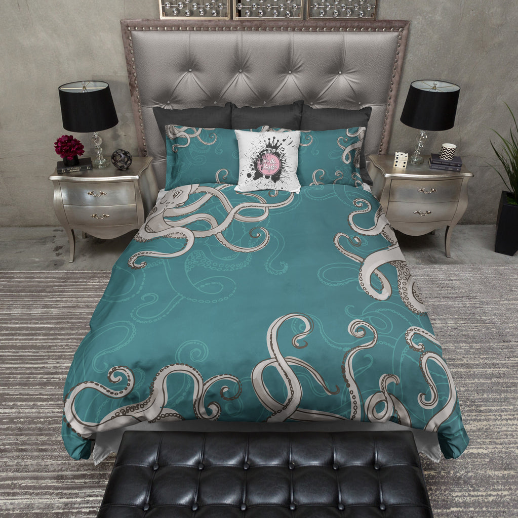 Teal Octopus Bedding Collection