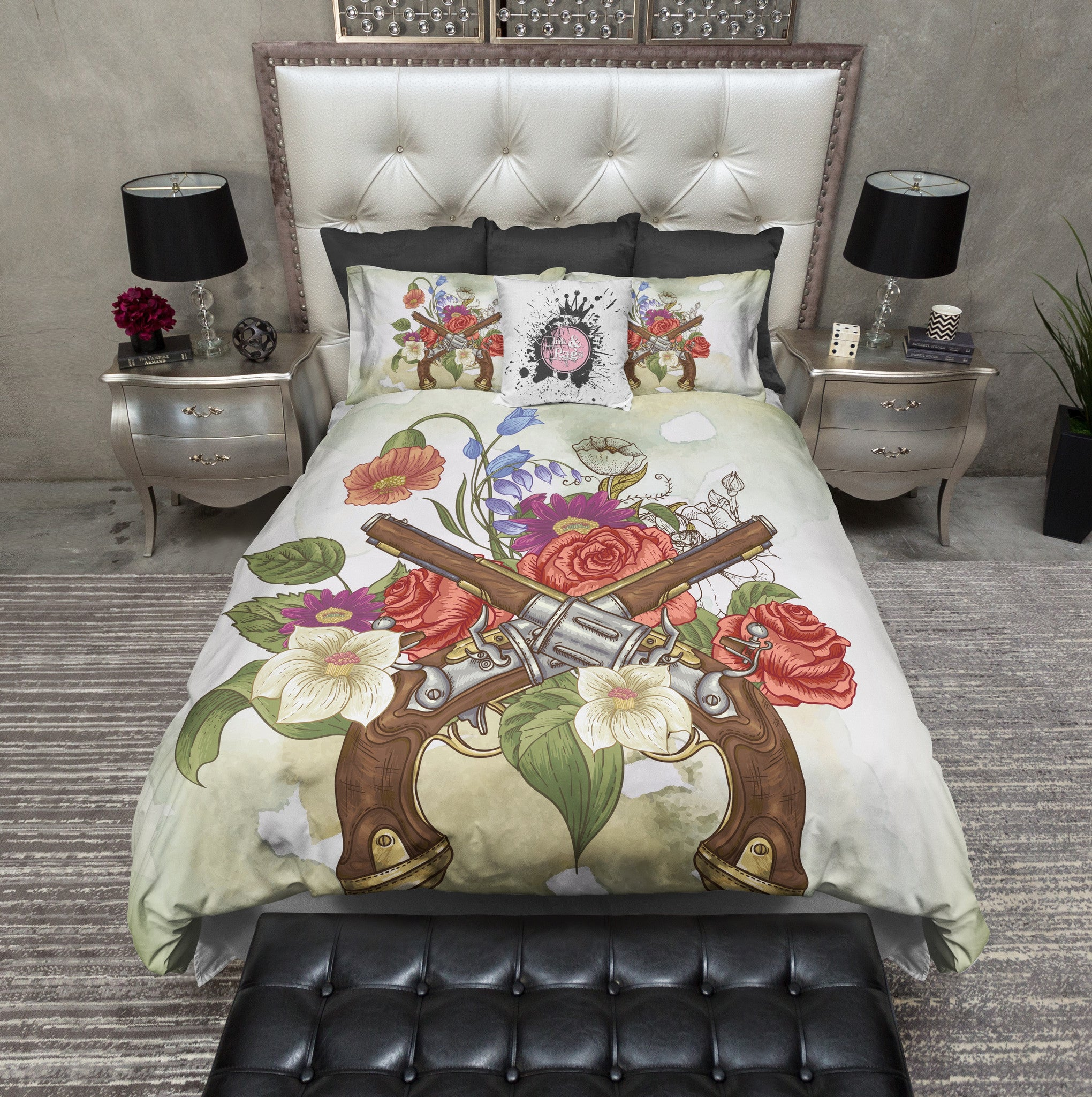 Guns N Roses Color Duvet Bedding Sets Ink And Rags