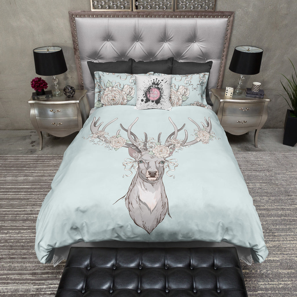 Country Chic Deer and Rose Bedding