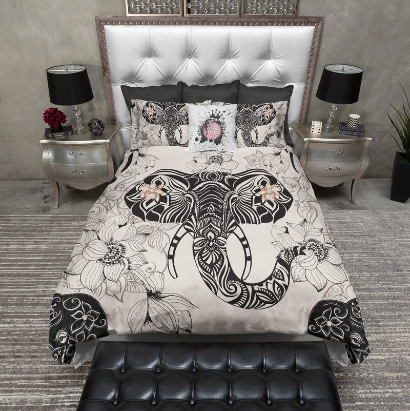 Tribal Elephant and Flower Bedding