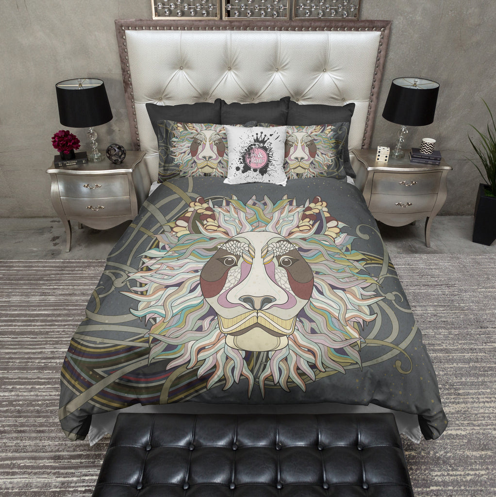 Bohemian Lion Duvet Bedding Sets