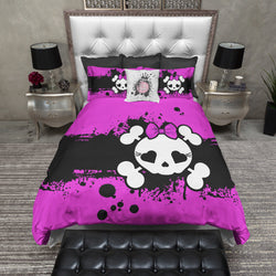Hot Pink Candy Skull Bedding