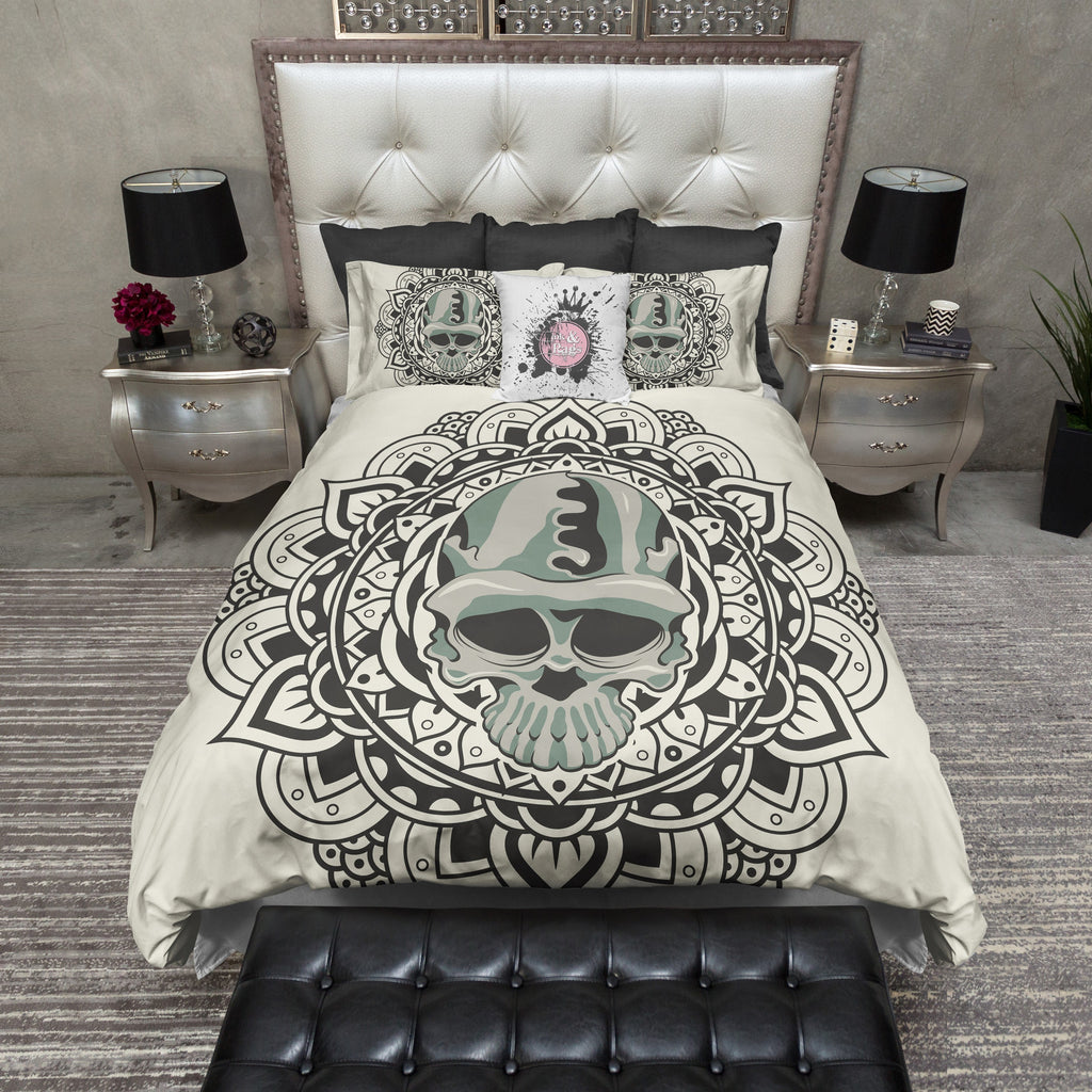Tribal Flower and Camo Skull Duvet Bedding Sets