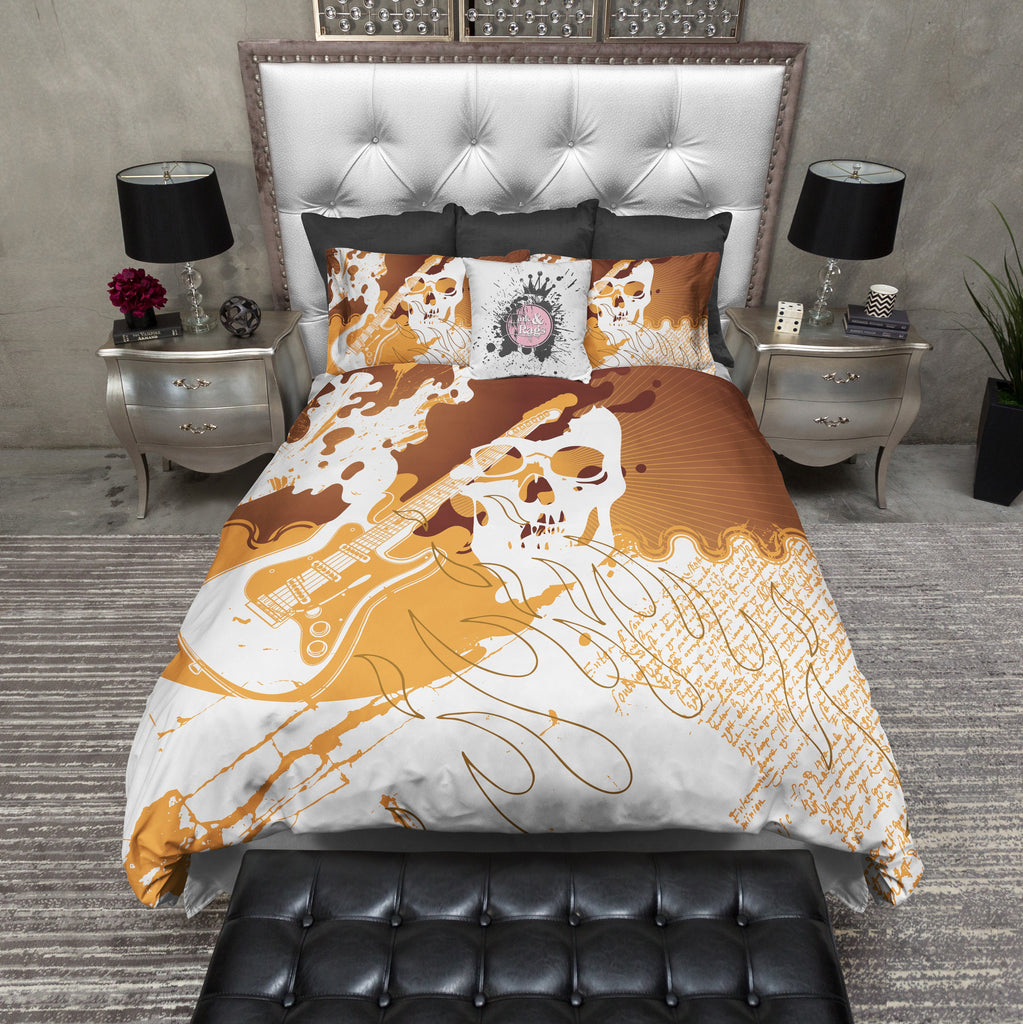 Rock n' Roll Skull Duvet Bedding Sets