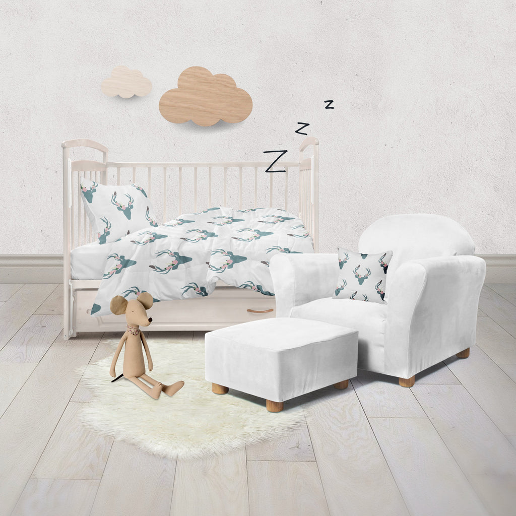 Little Birdy Pink Rose and Deer Crib and Toddler Bedding Collection