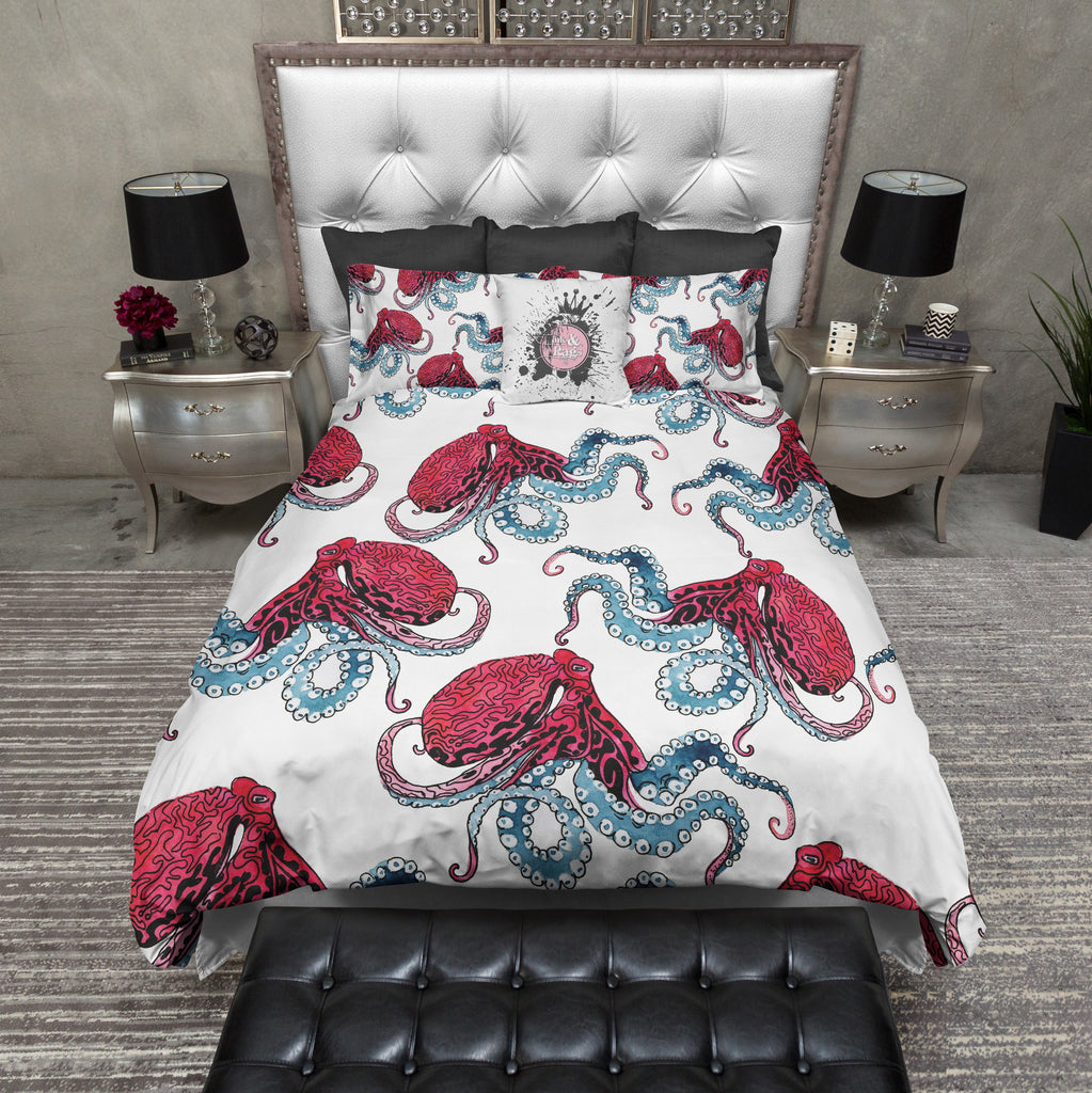 Berry and Ice Octopus Bedding