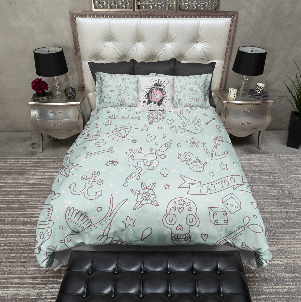 Rockabilly Love Tattoo Bedding
