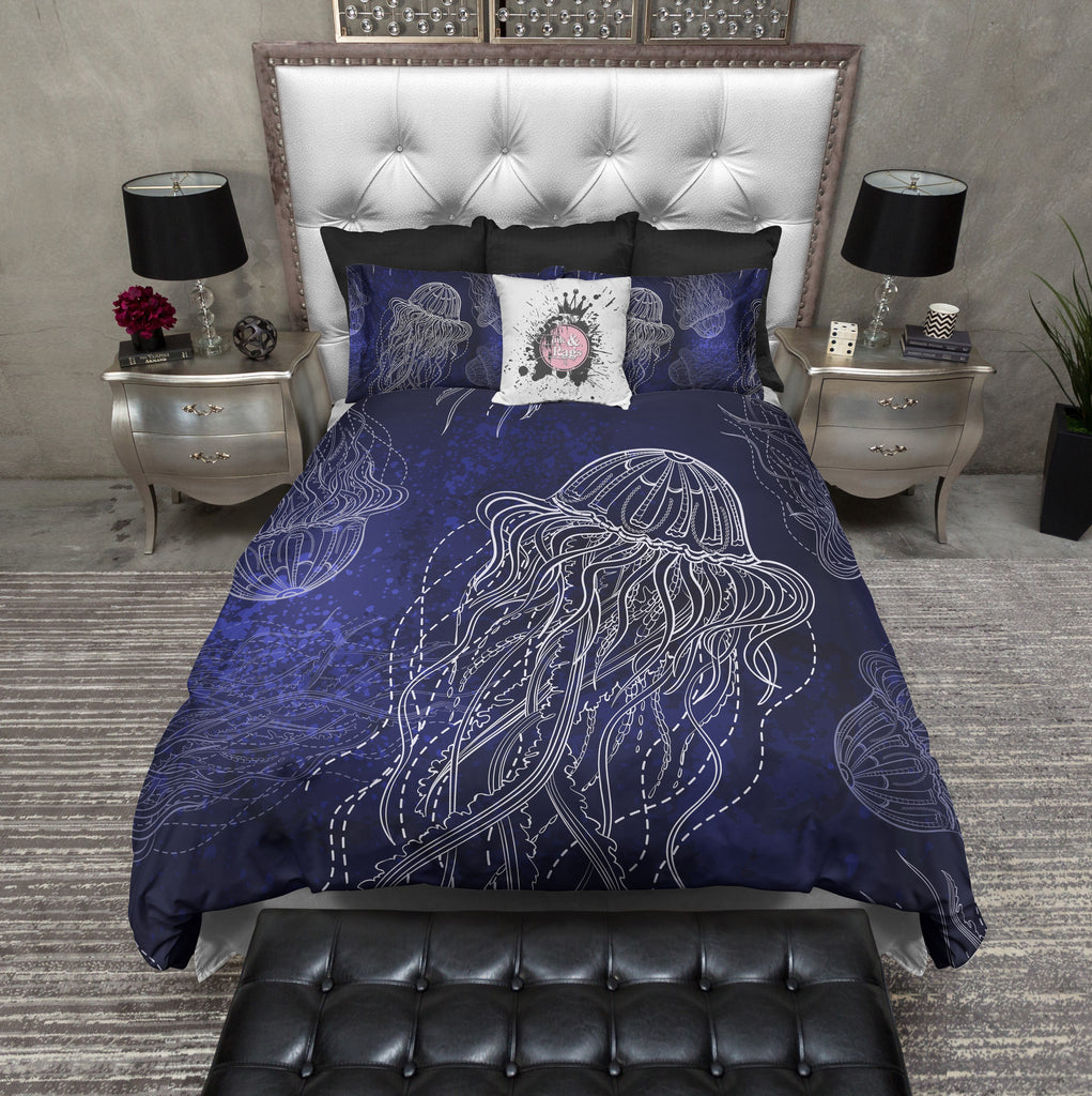 Midnight Blue Jellyfish Bedding Collection