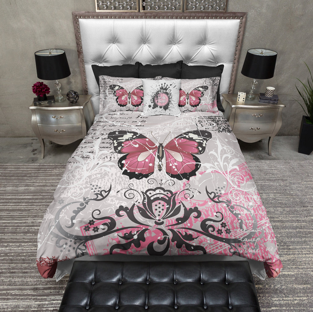 Grunge Butterfly Bedding Collection