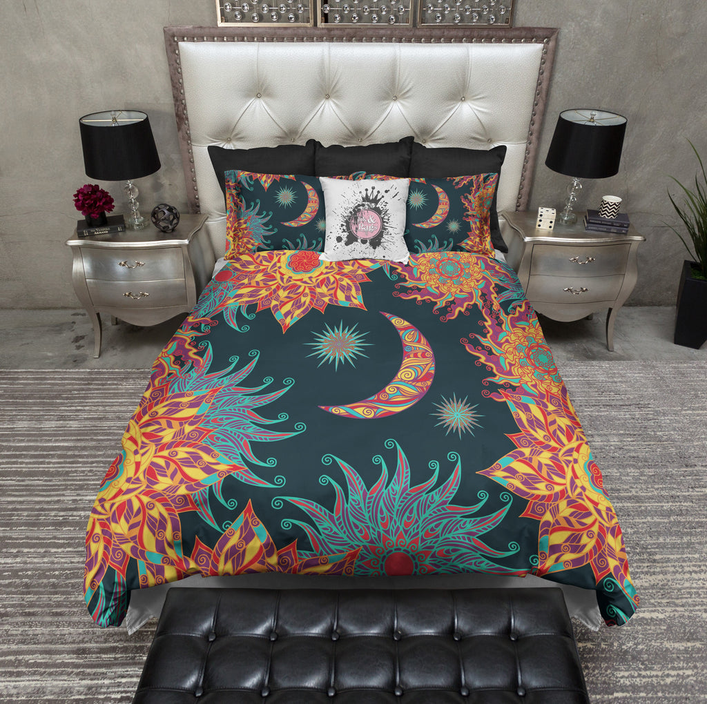 Bohemian Fire Sun And Moon Bedding Ink And Rags